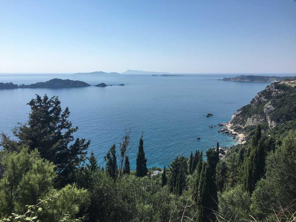 Ocean view of Corfu