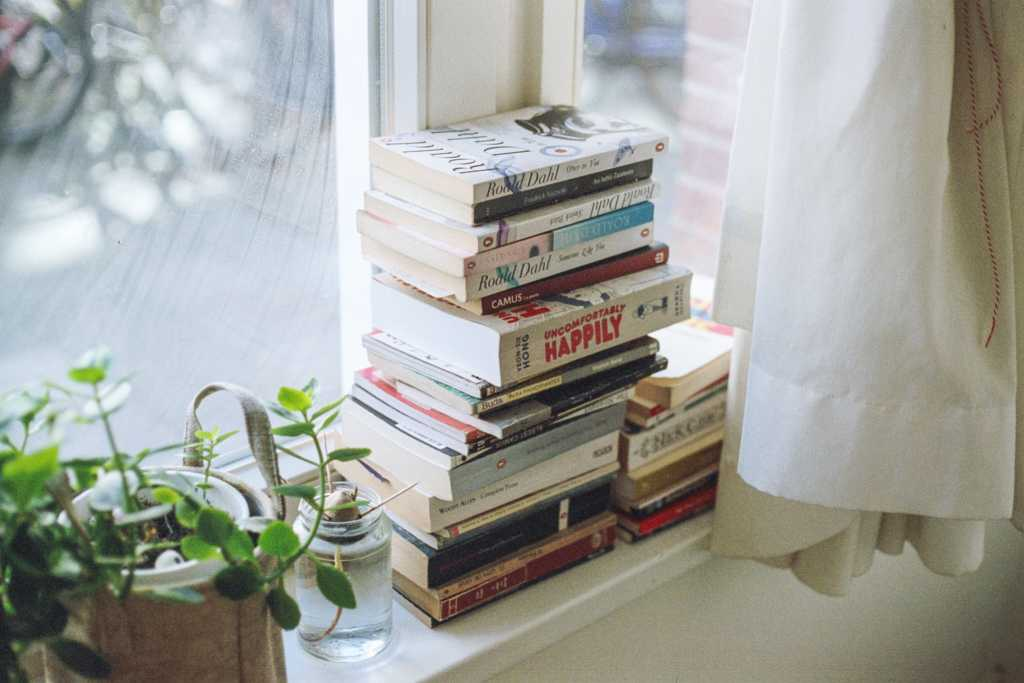 Books by the window